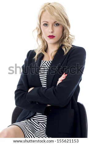 Model Released. Bored Young Business Woman - stock photo