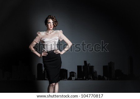 model studio shoot /urban 6/ - stock photo