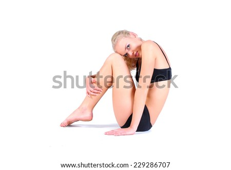 Model with perfect body - stock photo