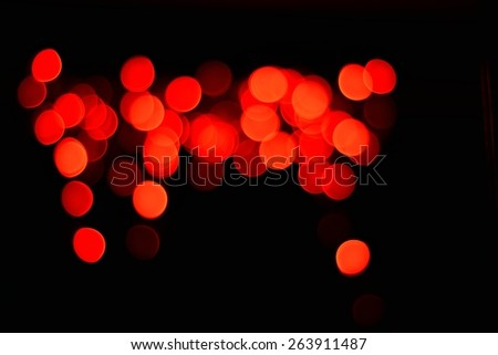 Modeled blurred red lights at night. - stock photo