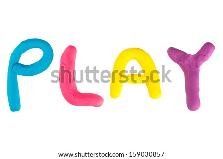 Modelling clay - stock photo