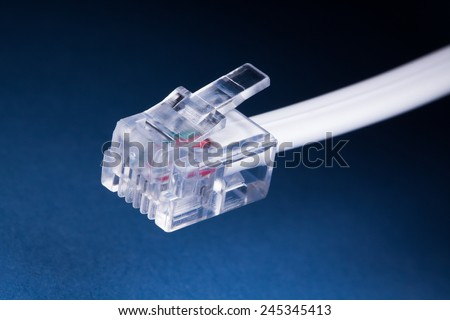 modem cable - stock photo