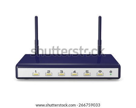 modem router wifi - stock photo