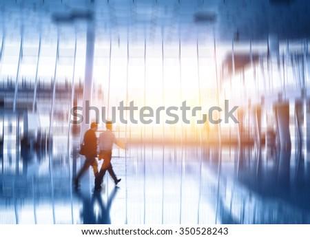 Modern Airport - stock photo