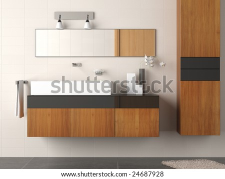 Modern and clean Bathroom detail - stock photo