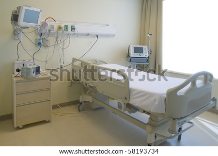 modern and comfortable equipped hospital room - stock photo