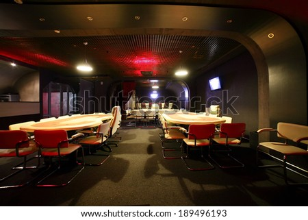 modern and fashionable casino in european style - stock photo