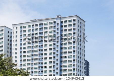modern and stylish Condo High rise - stock photo