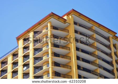 modern and stylish Condo High rise - stock photo
