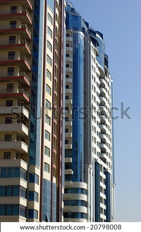 Modern and stylish hotel in Baku,Azerbaijan - stock photo