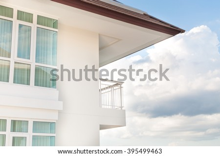 Modern apartment balcony - stock photo