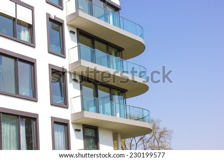 Modern Apartment Block in Berlin Germany - stock photo