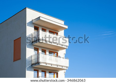 Modern apartment building - stock photo