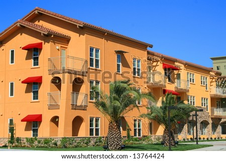 Modern Apartment Complex - stock photo