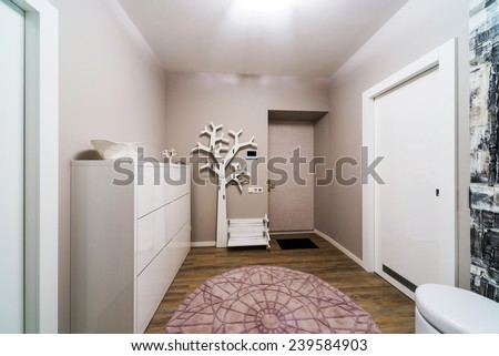 Modern apartment hall - stock photo