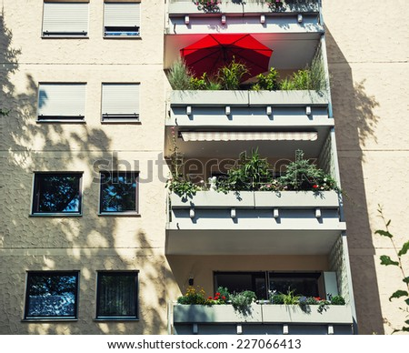 Modern apartment house in Germany. - stock photo