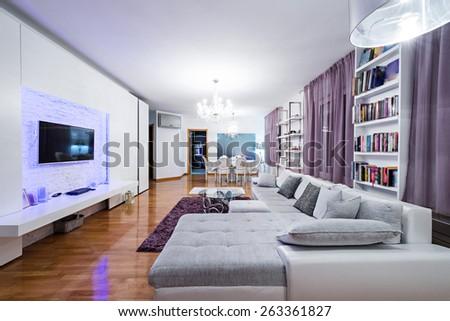 Modern apartment interior - stock photo