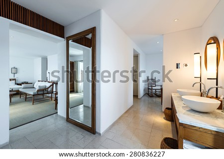 Modern apartment interior - stock photo