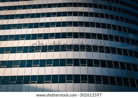Modern architectural details in Rosslyn, Arlington, Virginia. - stock photo