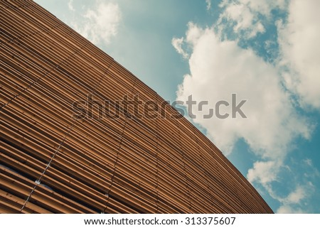 Modern architecture and sky - stock photo