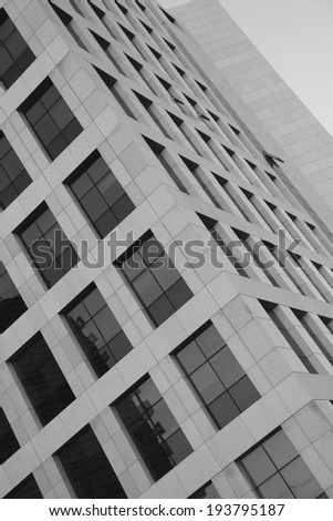Modern architecture background-Abstract Detail in Black And white  - stock photo