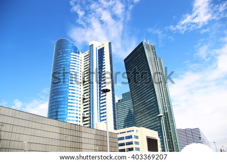 modern architecture builds of Kazakhstan - stock photo
