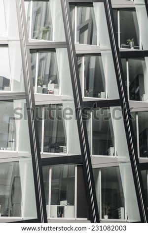Modern architecture detail in Hamburg, Germany - stock photo