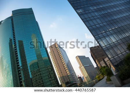 Modern architecture in the Ginza district of Tokyo - stock photo