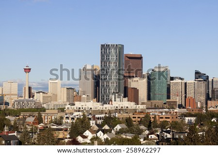 Modern architecture of Calgary. Calgary, Alberta, Canada - stock photo