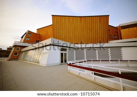 modern architecture, Philharmonie Berlin - stock photo