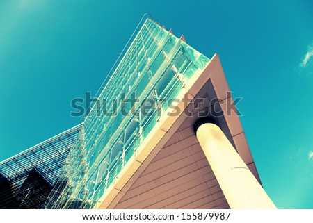 modern architecture up - stock photo