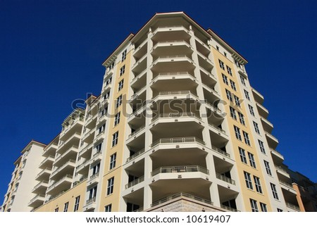 Modern art deco architecture in south florida - stock photo