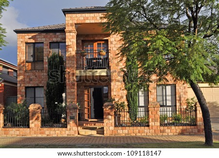Modern Australian family house - stock photo