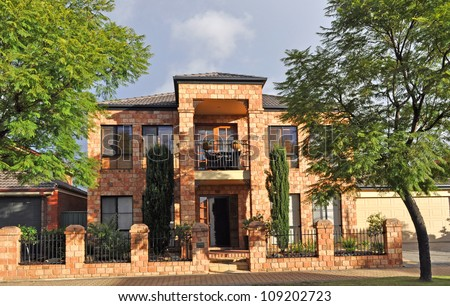 Modern Australian house - stock photo