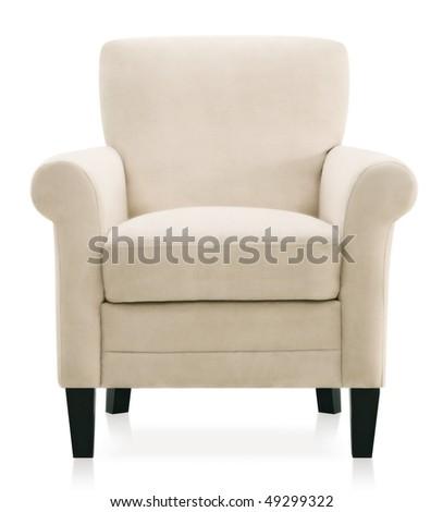 modern baroque armchair - stock photo