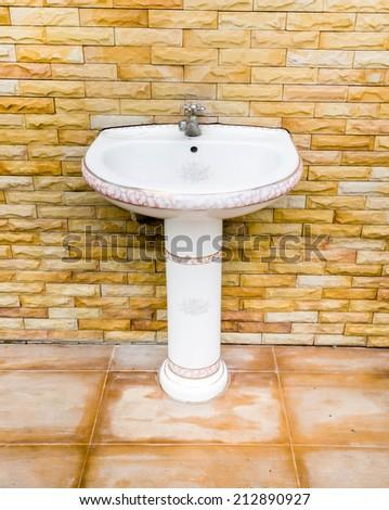 Modern basin and tab - stock photo