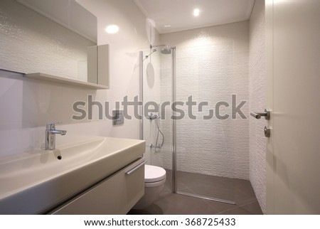 Modern bathroom design - stock photo