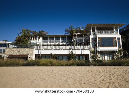 Modern Beach Home Exterior - stock photo