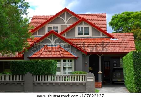 Modern big family house in Lane Cove, Sydney, Australia - stock photo