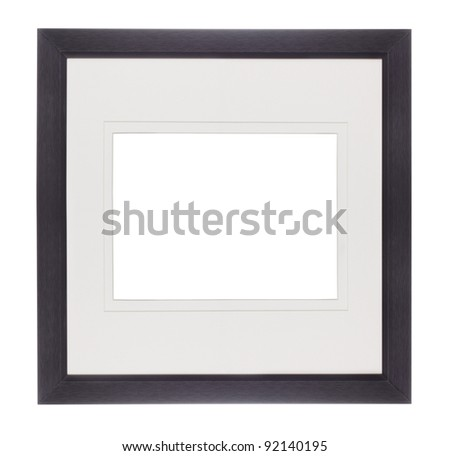 Modern Black picture frame with clipping path - add your own photos! - stock photo