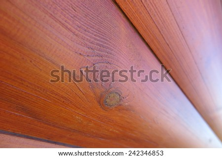 Modern block-house pine boards (summer cottage wall encased by bock-house boards ) - stock photo
