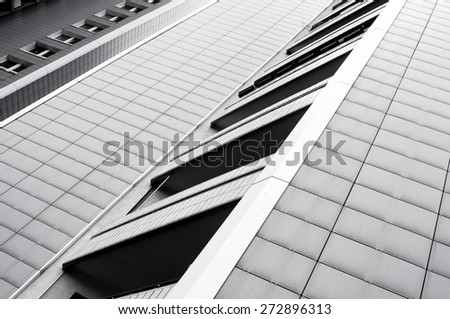 modern Block of Flats - stock photo