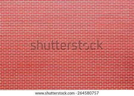 Modern brick wall. Brick red wall a background. - stock photo