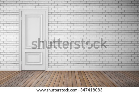 Modern bright room interior background. 3d rendering - stock photo