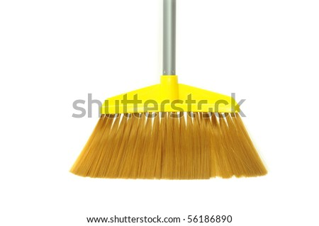 Modern Broom Made Of Plastic Material - stock photo