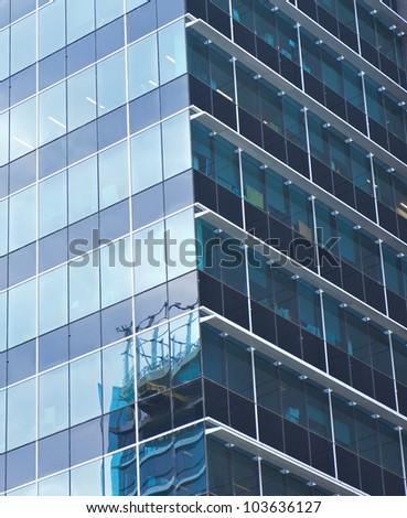 modern building background - stock photo