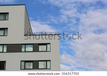 Modern building / Frankfurt am Main, Germany. Frankfurt is the largest financial centre in Europe - stock photo