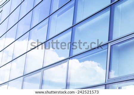 Modern building glass background  - stock photo