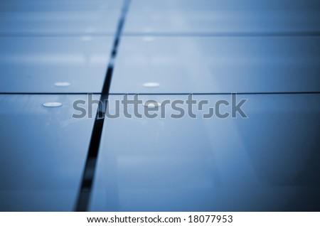 modern building glass facade - close up - stock photo