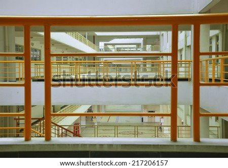 Modern building layers - stock photo